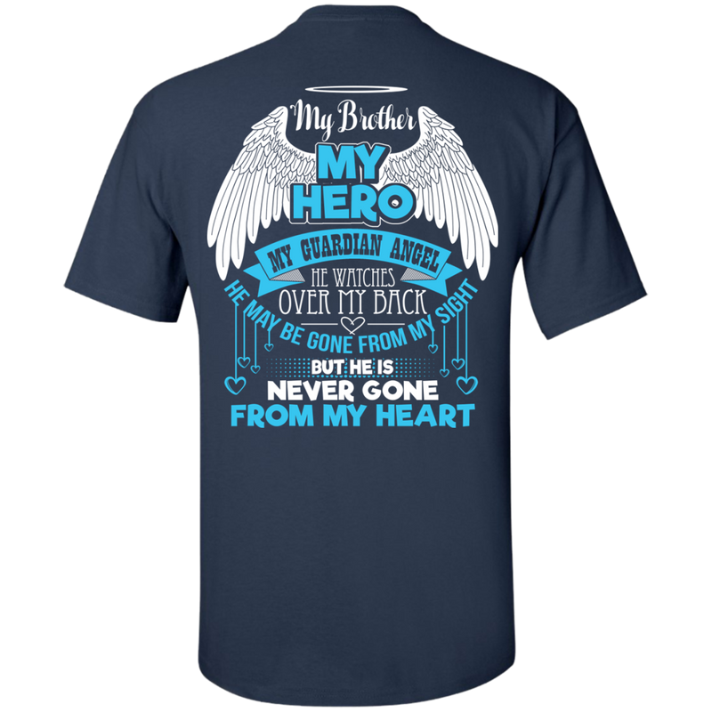 CustomCat Custom Ultra Cotton T-Shirt / Navy / Small My Brother - My Hero - My Guardian Angel Tshirt