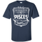 CustomCat Custom Ultra Cotton T-Shirt / Navy / Small Pisces Tshirt & Hoodie