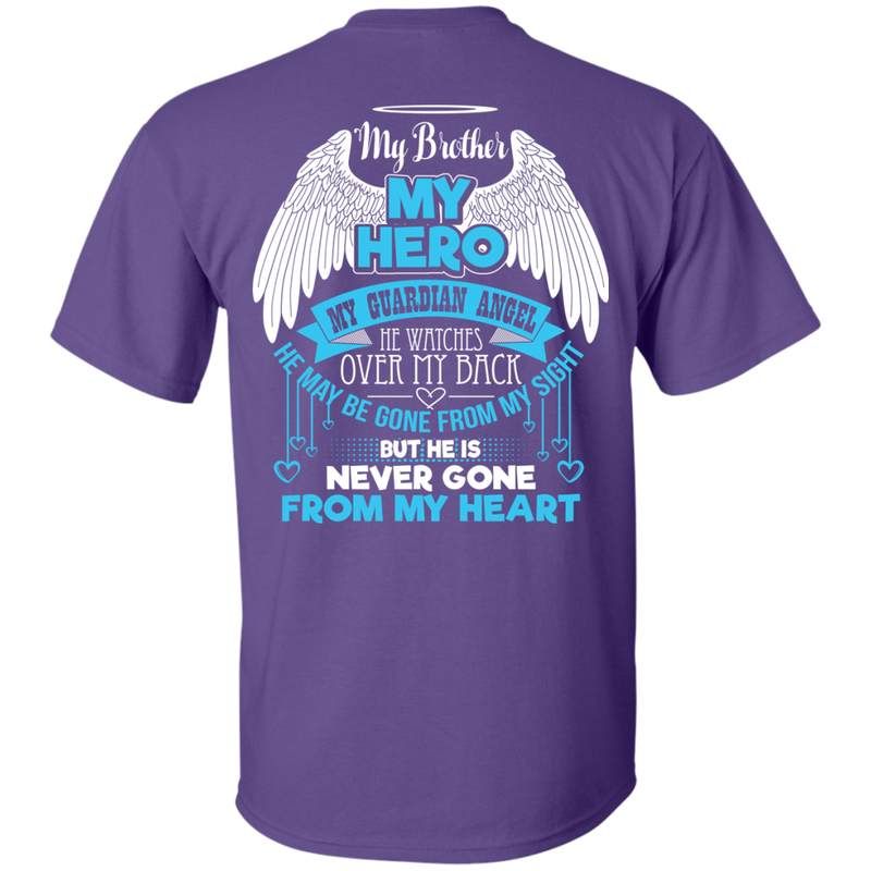CustomCat Custom Ultra Cotton T-Shirt / Purple / Small My Brother - My Hero - My Guardian Angel Tshirt