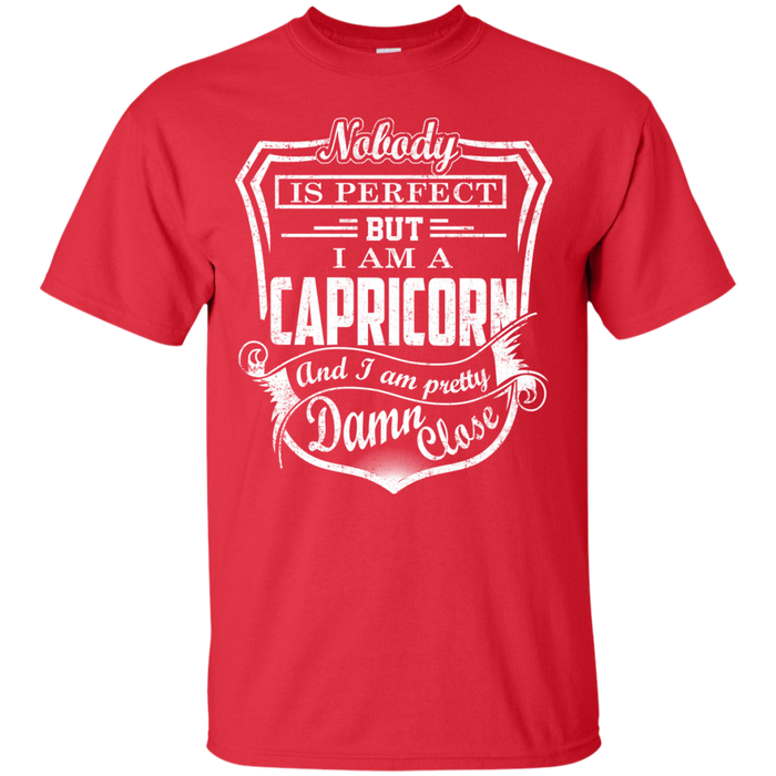 CustomCat Custom Ultra Cotton T-Shirt / Red / Small Capricorn Tshirt & Hoodie