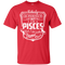 CustomCat Custom Ultra Cotton T-Shirt / Red / Small Pisces Tshirt & Hoodie
