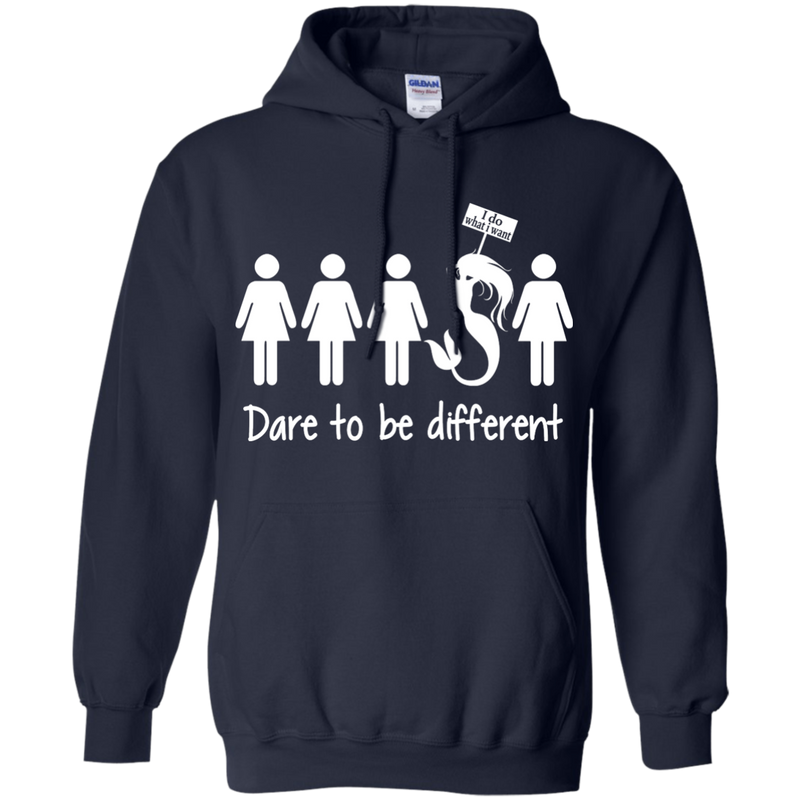 CustomCat G185 Gildan Pullover Hoodie 8 oz. / Navy / Medium Dare To Be Different