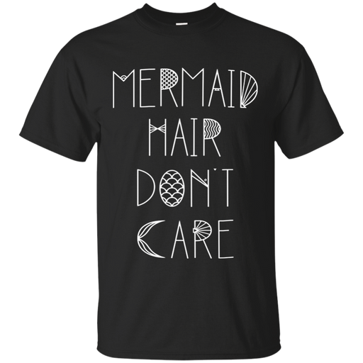 CustomCat G200 Gildan Ultra Cotton T-Shirt / Black / Small Mermaid Hair Don't Care