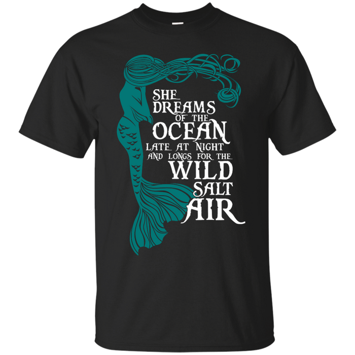 CustomCat G200 Gildan Ultra Cotton T-Shirt / Black / Small She Dreams Of The Ocean