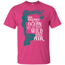 CustomCat G200 Gildan Ultra Cotton T-Shirt / Heliconia / Small She Dreams Of The Ocean