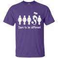 CustomCat G200 Gildan Ultra Cotton T-Shirt / Purple / Small Dare To Be Different