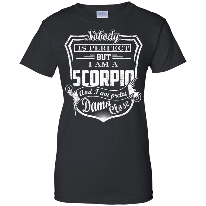 CustomCat Ladies Custom 100% Cotton T-Shirt / Black / X-Small Scorpio Tshirt & Hoodie