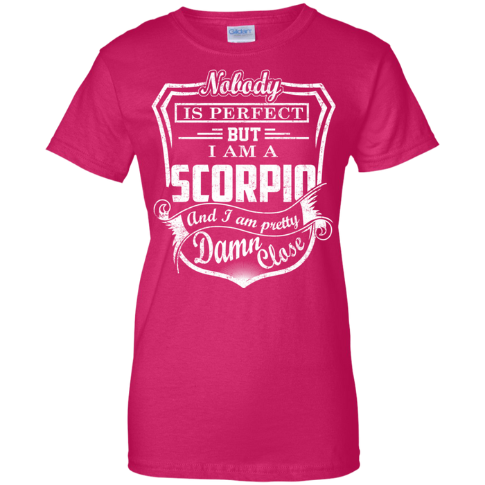 CustomCat Ladies Custom 100% Cotton T-Shirt / Heliconia / X-Small Scorpio Tshirt & Hoodie
