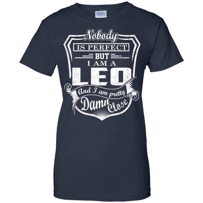 CustomCat Ladies Custom 100% Cotton T-Shirt / Navy / X-Small Leo Tshirt & Hoodie