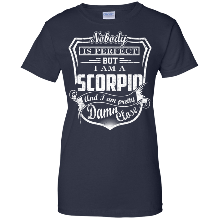 CustomCat Ladies Custom 100% Cotton T-Shirt / Navy / X-Small Scorpio Tshirt & Hoodie