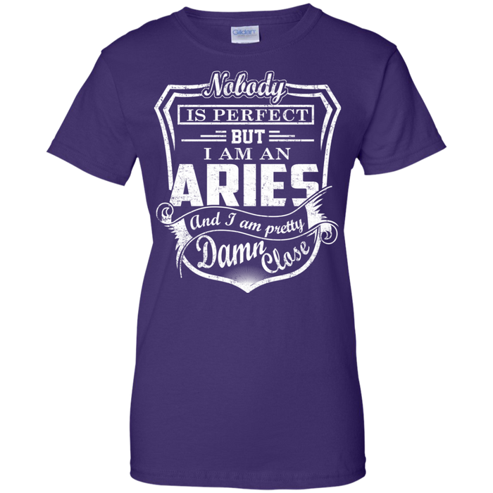 CustomCat Ladies Custom 100% Cotton T-Shirt / Purple / X-Small Aries Tshirt & Hoodie
