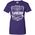 CustomCat Ladies Custom 100% Cotton T-Shirt / Purple / X-Small Capricorn Tshirt & Hoodie