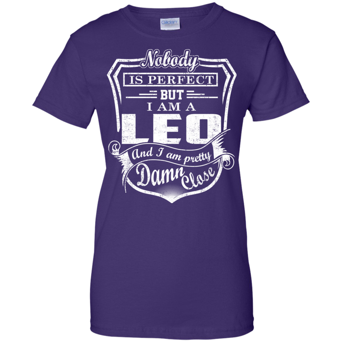 CustomCat Ladies Custom 100% Cotton T-Shirt / Purple / X-Small Leo Tshirt & Hoodie