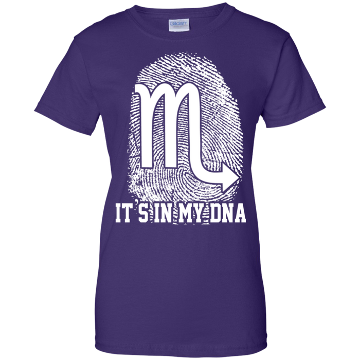 CustomCat Ladies Custom 100% Cotton T-Shirt / Purple / X-Small Scorpio Tshirt & Hoodie