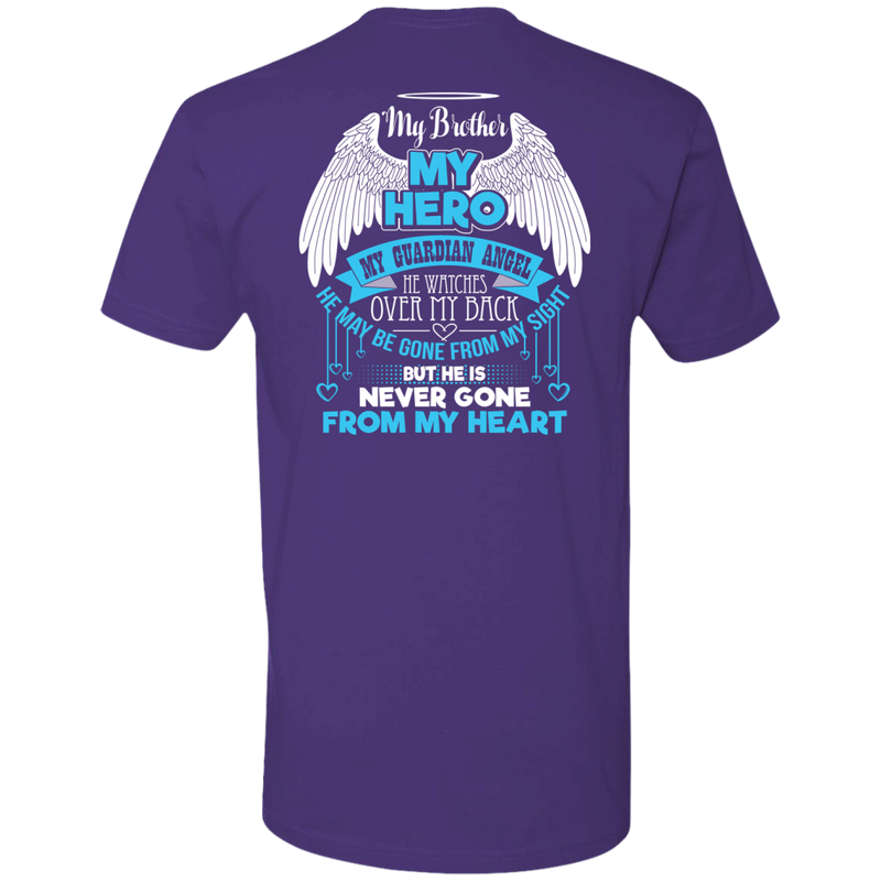 CustomCat Next Level Premium Short Sleeve Tee / Purple / X-Small My Brother - My Hero - My Guardian Angel Tshirt