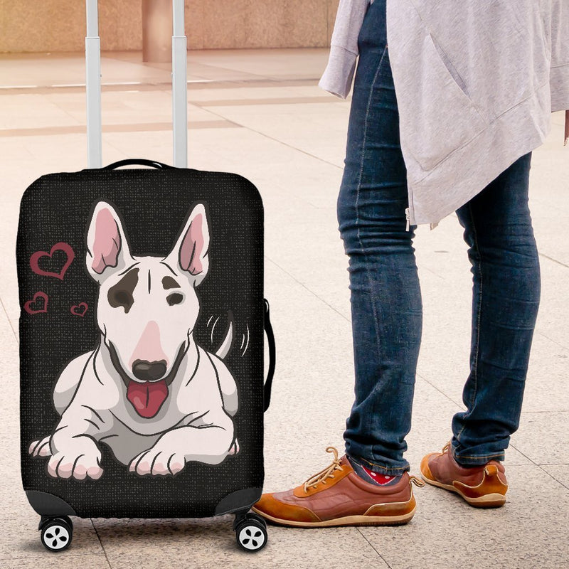 Cute Bull Terrier Luggage Cover interestprint