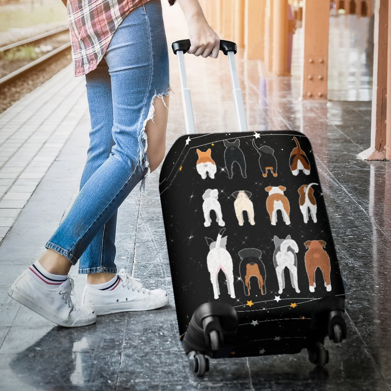 Cute Dog Butt Luggage Cover interestprint