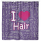 Cute I Love Hair Hairstylist Shower Curtains For Bathroom Decor