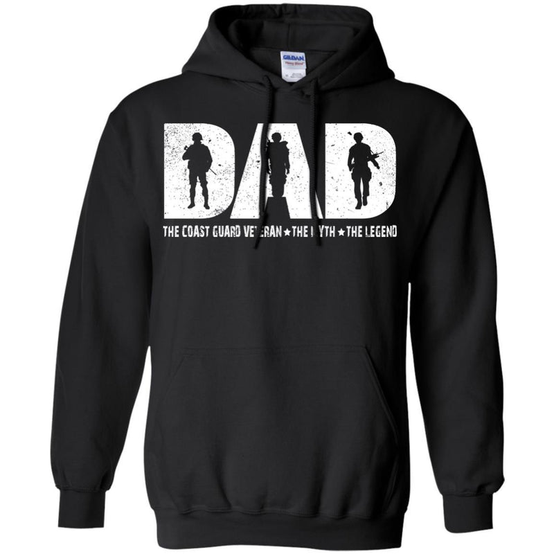 DAD The Coast Guard The Myth The Legend Veterans T-shirts & Hoodie for Veteran's Day CustomCat