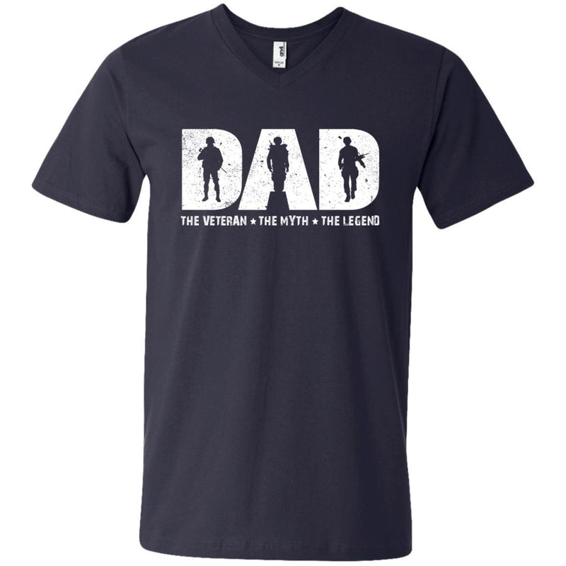 DAD The Veteran The Myth The Legend Veterans T-shirts & Hoodie for Veteran's Day CustomCat