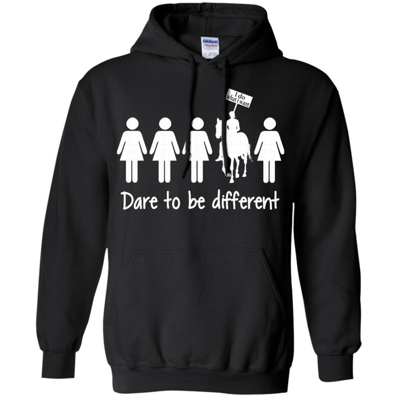 Dare to be Different T-shirt & Hoodie for Horse Lovers CustomCat
