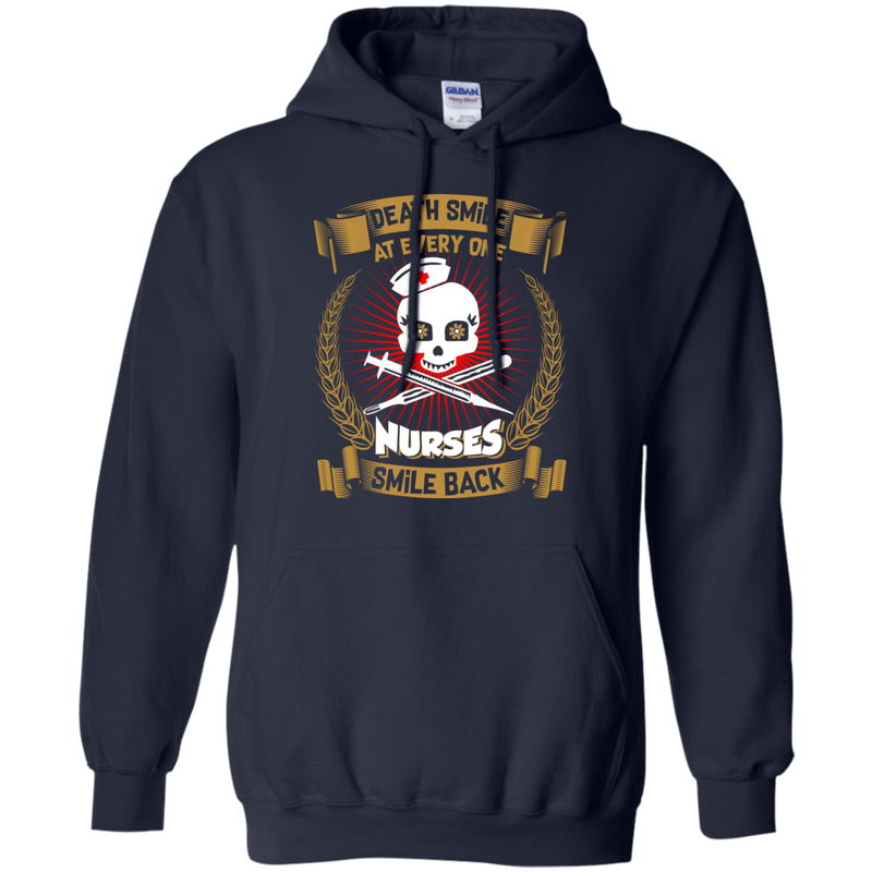 Death Smiles At Every One Nurses Smile Back Tshirt For Nurses CustomCat
