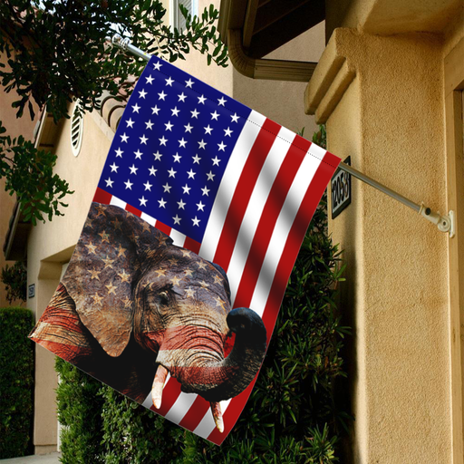 Elephant  American Flag fx interestprint