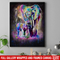 Elephant Canvas - Elephant And Baby Walking In Wild Elephant Cute Canvas Wall Art Decor
