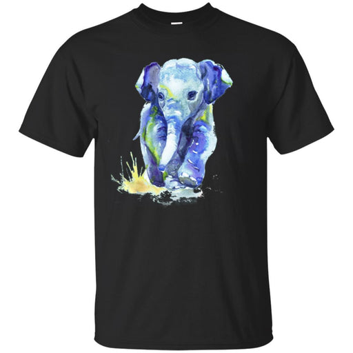 Elephant T-Shirt Baby Elephant Walking On Water Cute Elephant Walk Gift Tee Shirt CustomCat