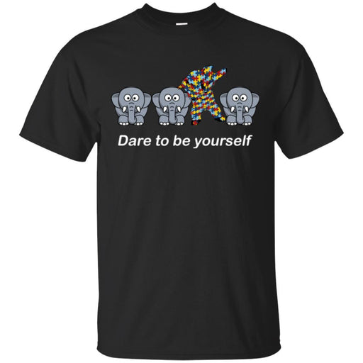 Elephant T-Shirt Dare To Be Yourself Cute Mediocre And Striking Elephant Funny Gift Tee Shirt CustomCat