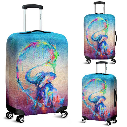Fabulous Elephant Water Color Luggage Covers My Soul & Spirit