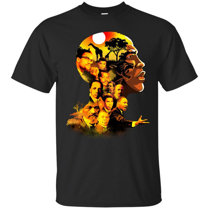 Famous Man in Black T-shirt For Melanin Kings CustomCat