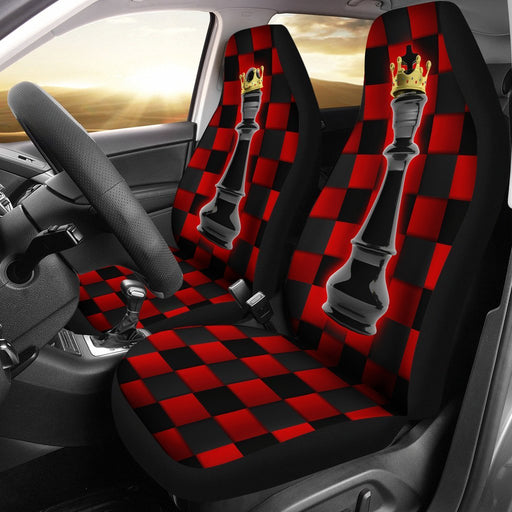 Fantastic Love Of Black King And Queen Chess Car Seat Covers (Set Of 2) My Soul & Spirit