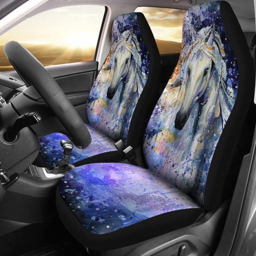 Fantastic Watercolor Horse Painting Car Seat Covers (Set Of 2) My Soul & Spirit