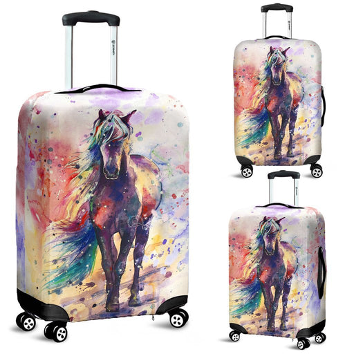 Fascinated Watercolor Riding Horse Luggage Covers My Soul & Spirit