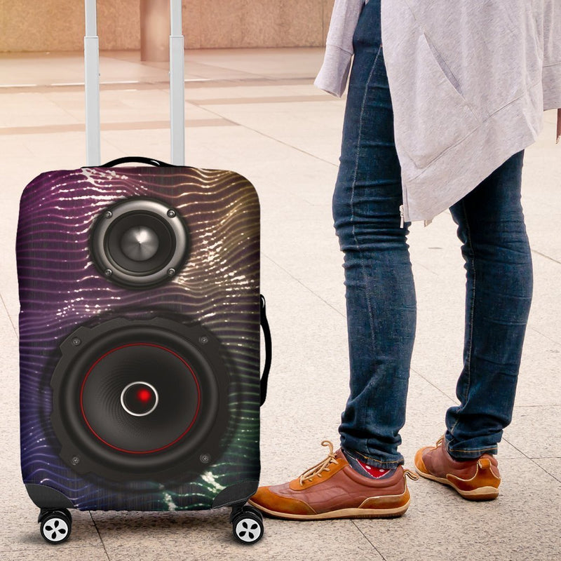 Fashionable Multi Color Pulling Speakers Luggage Cover interestprint