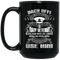 Female Veteran Coffee Mug Back Off My Husband Is A Crazy Navy Veteran Not Afraid To Use Him 11oz - 15oz Black Mug
