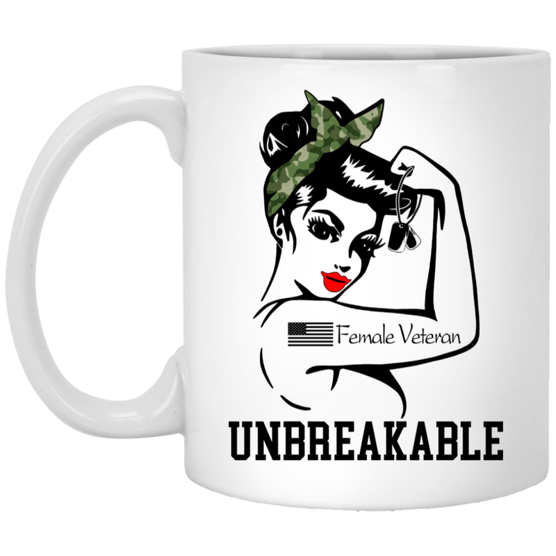 Female Veteran Coffee Mug Female Veteran Unbreakable 11oz - 15oz White Mug CustomCat