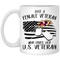 Female Veteran Coffee Mug Just A Female Veteran Who Loves Her US Veteran 11oz - 15oz White Mug