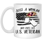 Female Veteran Coffee Mug Just A Woman Who Loves Her US Veteran 11oz - 15oz White Mug