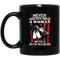 Female Veteran Coffee Mug Never Underestimate A Woman With A Military Background 11oz - 15oz Black Mug