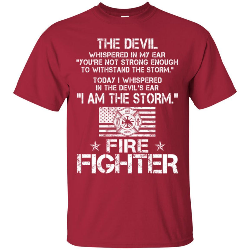 Firefighter T-Shirt Firefighter And Nurse Hope Taken Survivors Dept Fire Tee Shirts CustomCat