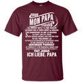 For My Papa In Heaven T-shirt For Father's Day CustomCat