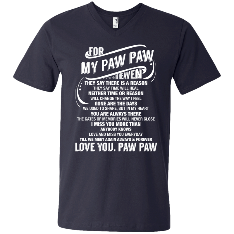 For My Paw Paw In Heaven T-shirts CustomCat