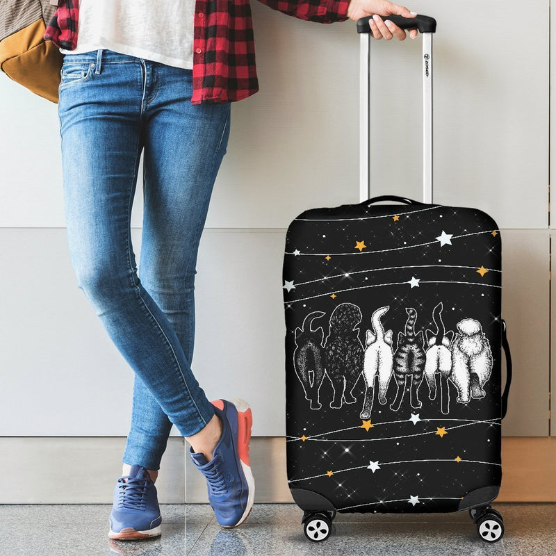Funny Cat Butt Luggage Cover interestprint