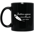 Guardian Angel Coffee Mug Feathers Appear When Angels Are Near 11oz - 15oz Black Mug CustomCat