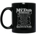 Guardian Angel Coffee Mug For My Dad In Heaven Always And Forever Love You 11oz - 15oz Black Mug CustomCat