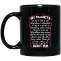Guardian Angel Coffee Mug For My Daughter In Heaven Love And Miss You Everyday 11oz - 15oz Black Mug CustomCat