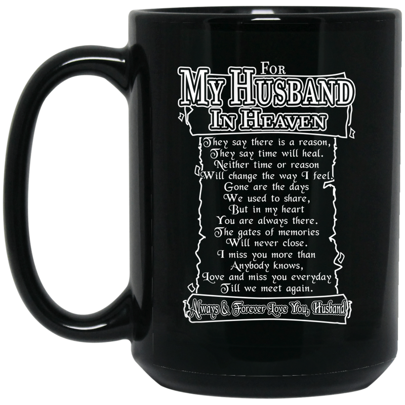 Guardian Angel Coffee Mug For My Husband In Heaven Always And Forever Love You 11oz - 15oz Black Mug