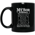 Guardian Angel Coffee Mug For My Son In Heaven Always And Forever Love You 11oz - 15oz Black Mug CustomCat